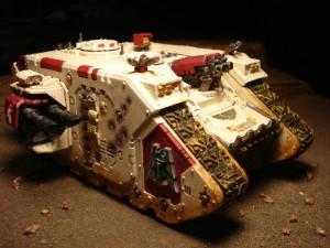 237921_md-Battle Damage, Deathwing, Land Raider, Warhammer 40,000, Weathered